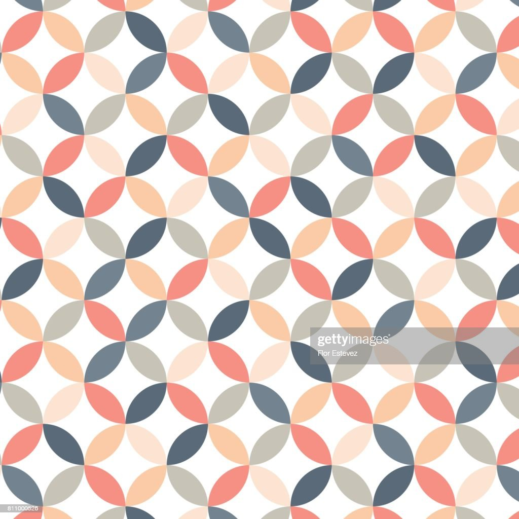 Petal shape geometric seamless pattern