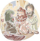 Peter and John healed a lame beggar