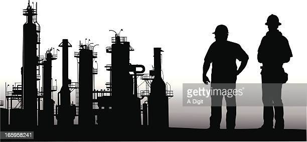 Petro Workers Vector Silhouette