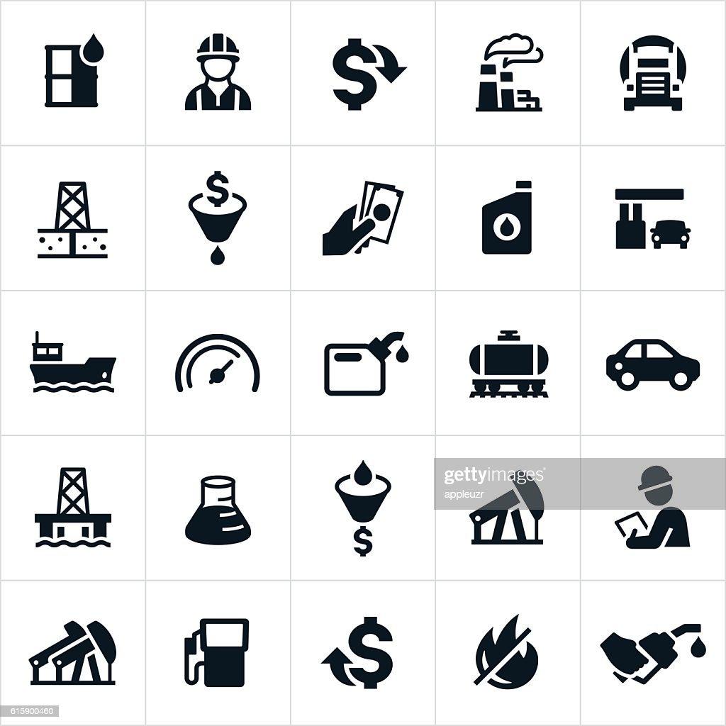 Petroleum Icons : stock illustration