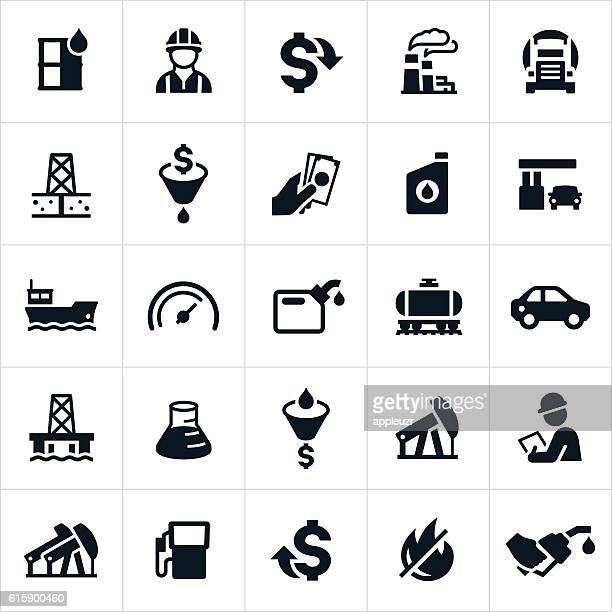 petroleum icons - labeling stock illustrations, clip art, cartoons, & icons