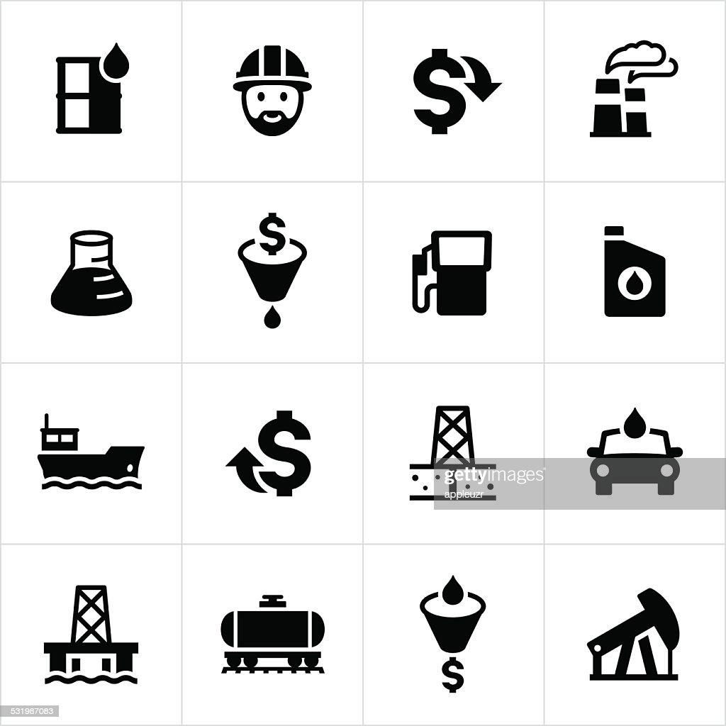 Petroleum Production Icons : stock illustration