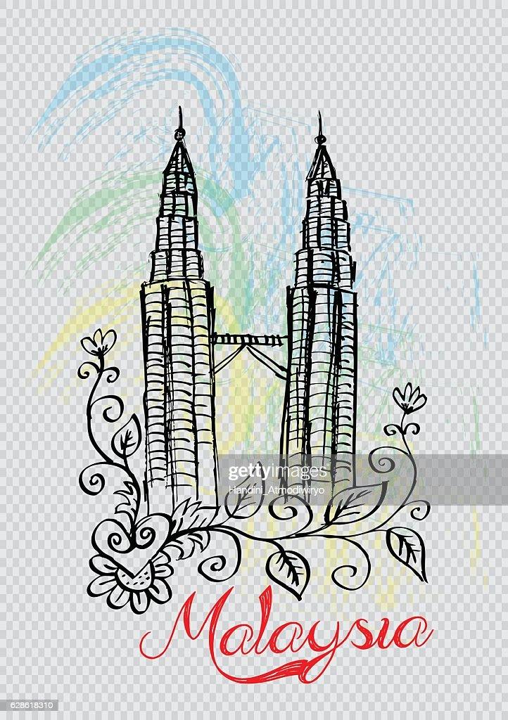 Petronas towers in Kuala Lumpur.