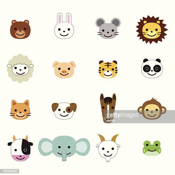 pets and farm animals icons - cute mouse stock illustrations