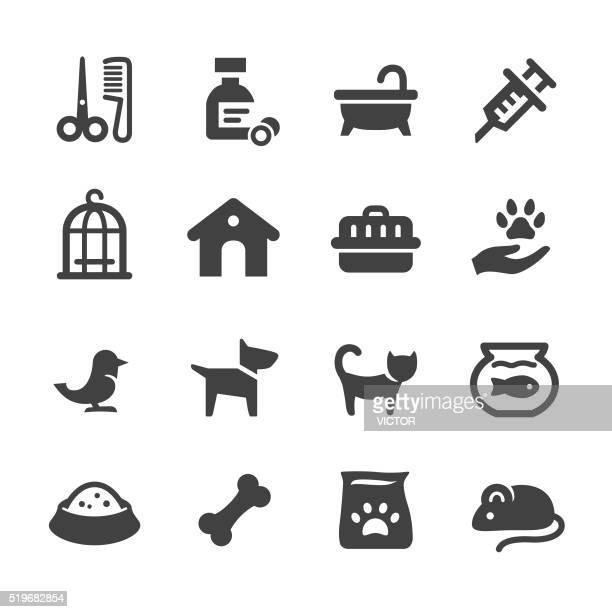 pets icons - acme series - pet equipment stock illustrations, clip art, cartoons, & icons