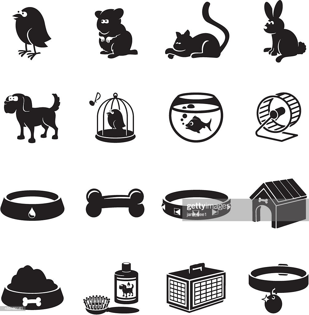 Pets Icons : stock illustration