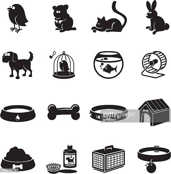 pets icons - dog bowl stock illustrations, clip art, cartoons, & icons