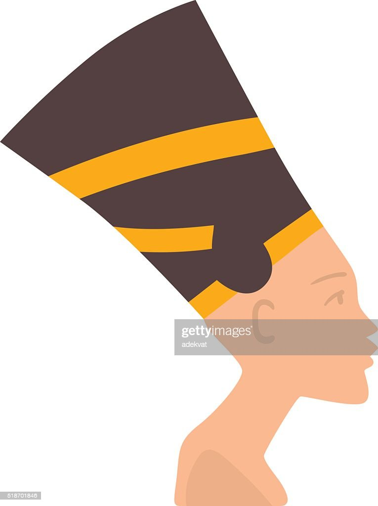 Pharaoh head vector illustration isolated on white