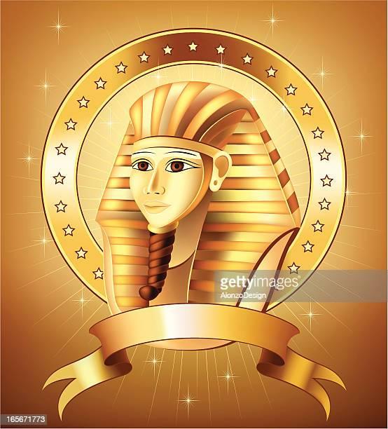pharaoh insignia - nubia stock illustrations, clip art, cartoons, & icons