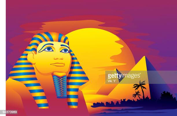 pharaoh - the sphinx stock illustrations, clip art, cartoons, & icons