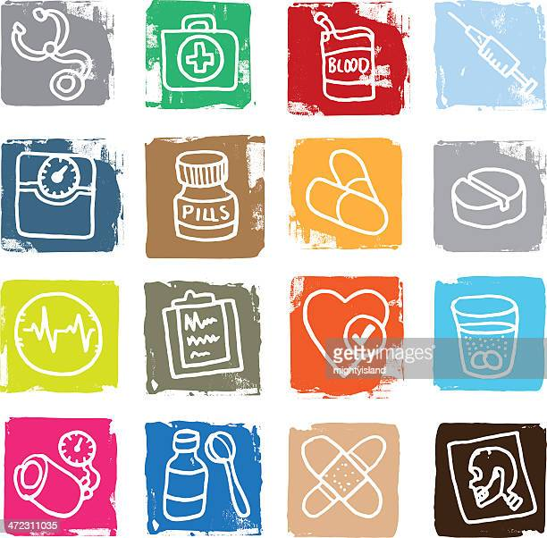 pharmaceutical and medial icons - dissolving stock illustrations, clip art, cartoons, & icons