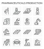 pharmaceutical production icon
