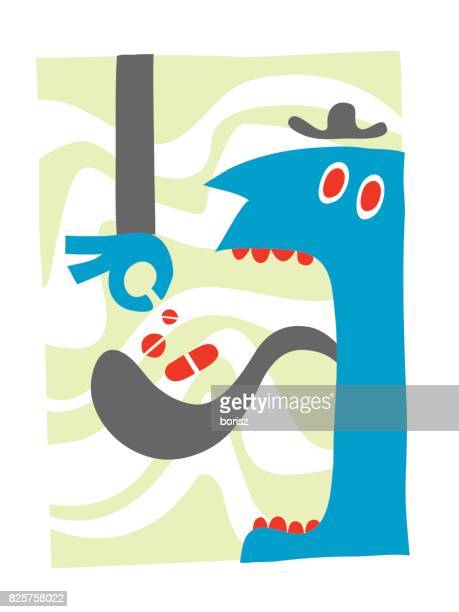 pharmaceuticals - sticking out tongue stock illustrations, clip art, cartoons, & icons