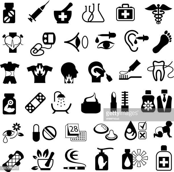 Pharmacy and Drugstore Icons