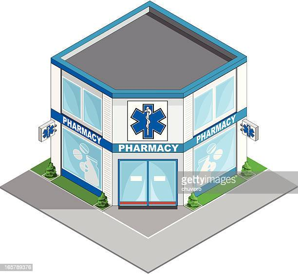 Pharmacy building isometric