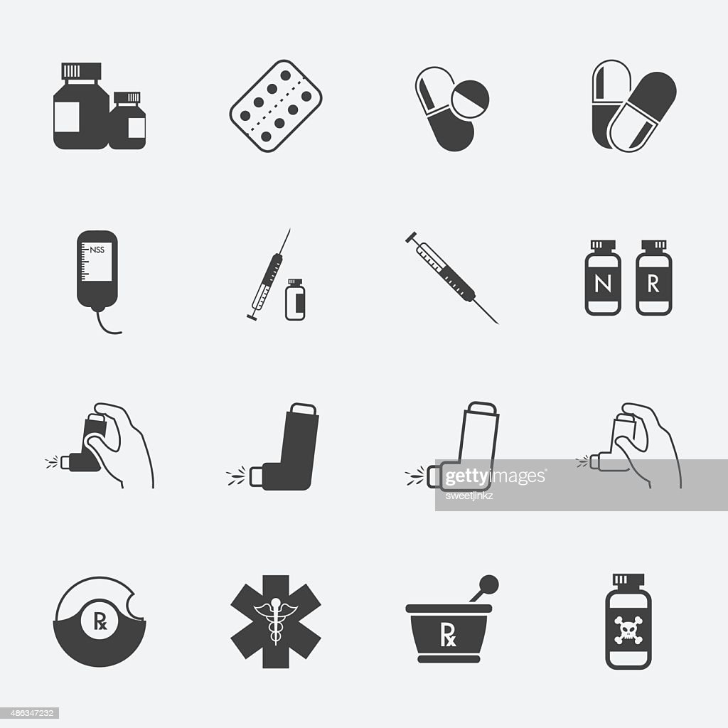 Pharmacy Icons and Medical Icons set.