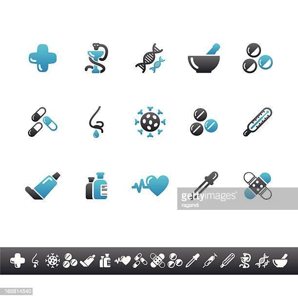 Pharmacy Icons | Blue Grey