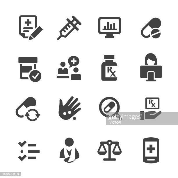 Pharmacie Icons Set - Acme série