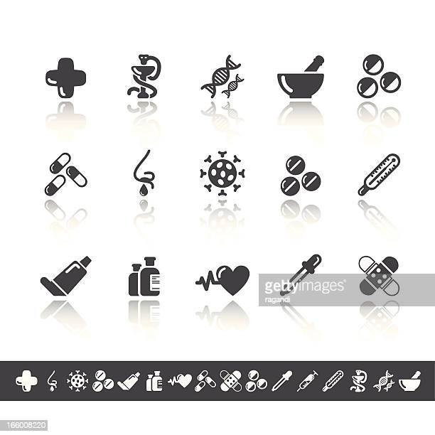 pharmacy icons | simple grey - mortar and pestle stock illustrations, clip art, cartoons, & icons