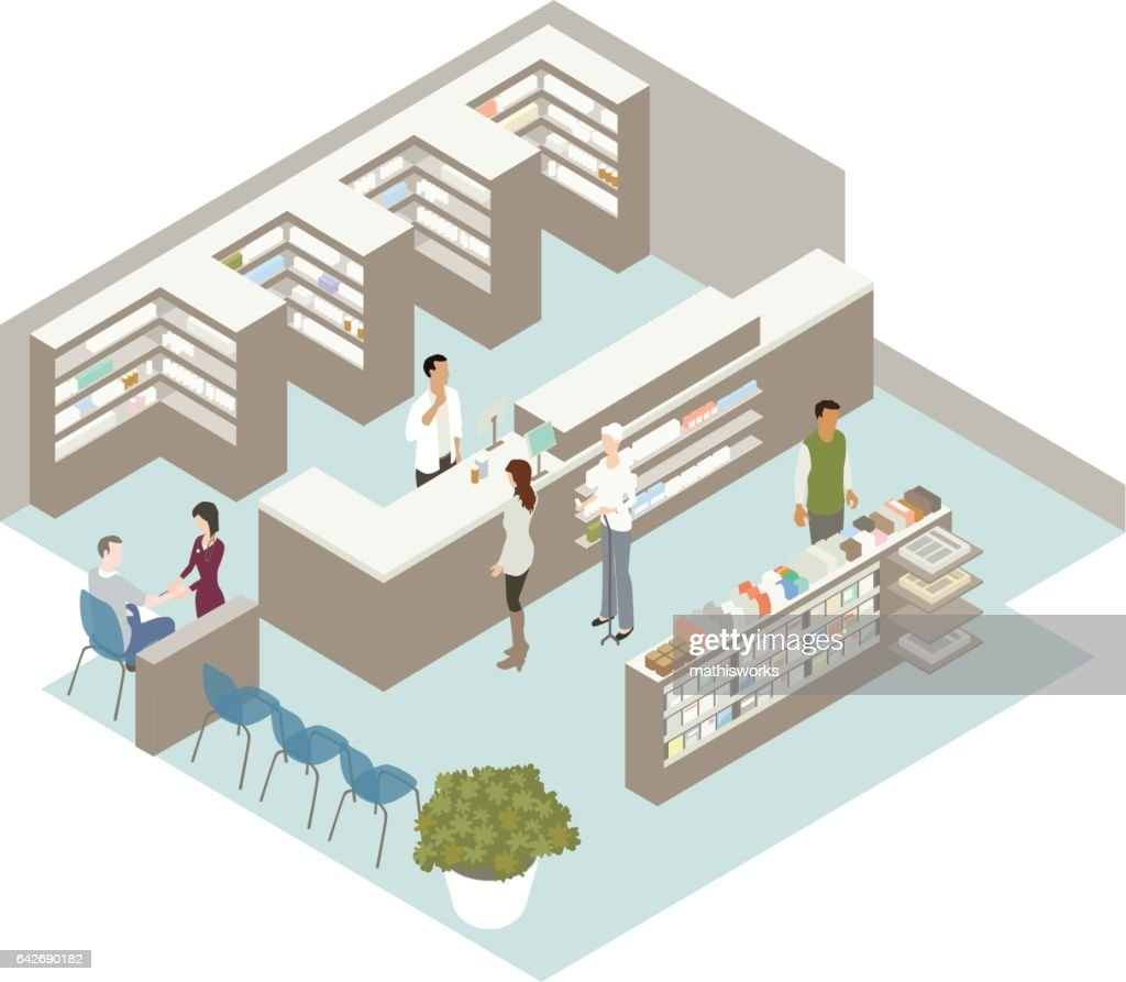 Pharmacy Illustration : Vector Art