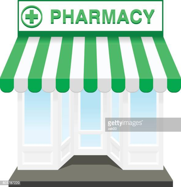 pharmacy store - display cabinet stock illustrations, clip art, cartoons, & icons