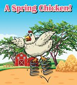 Pharse on poster for spring chicken