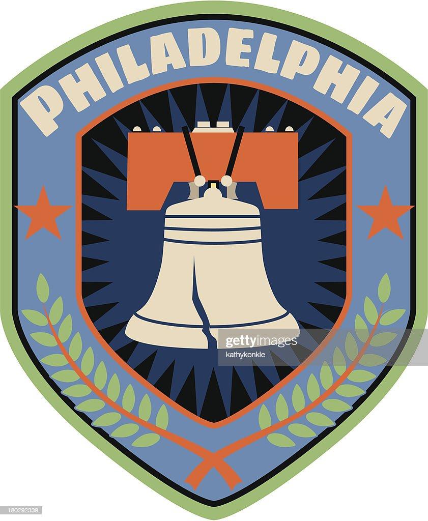 Philadelphia luggage label or travel sticker