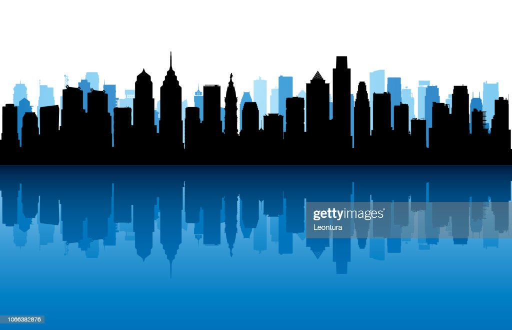 Philadelphia (All Buildings Are Complete and Moveable) : stock illustration