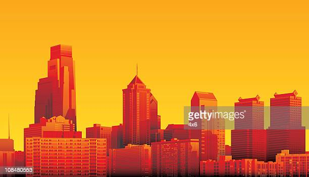 philadelphia - skyscraper stock illustrations