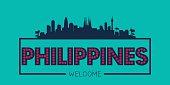 Philippines city skyline silhouette