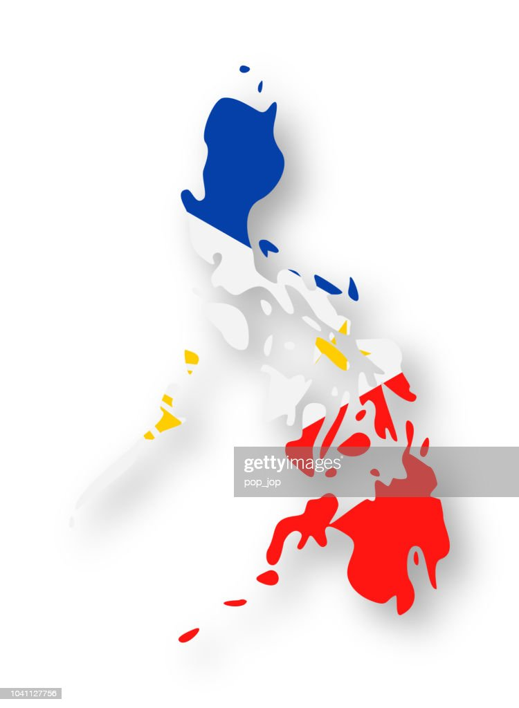 Philippines - Contour Country Flag Vector Flat Icon