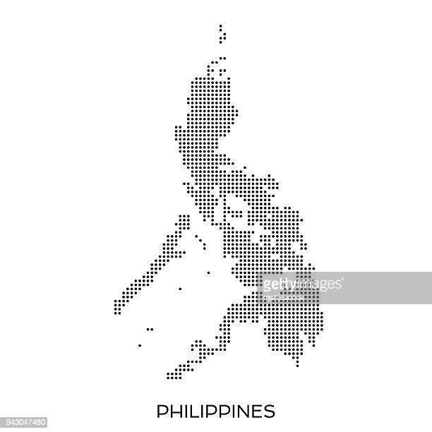 ilustraciones, imágenes clip art, dibujos animados e iconos de stock de punto mapa de patrón de semitono de filipinas - filipinas