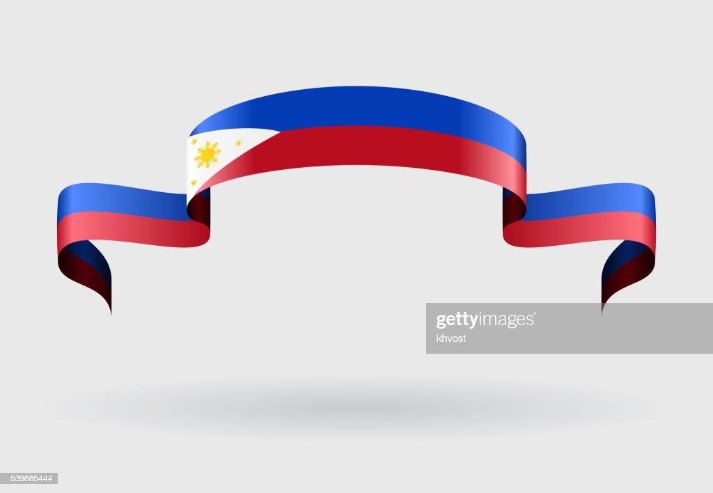 Philippines flag background. Vector illustration.