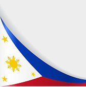 Philippines flag background. Vector illustration.
