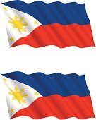 Philippines Flag Flying in the Wind
