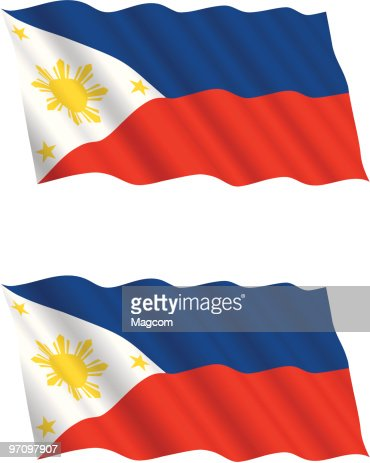 philippines flag flying in the wind vector art   getty images