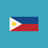 Philippines flag icon in flat design