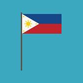 Philippines flag icon in flat design