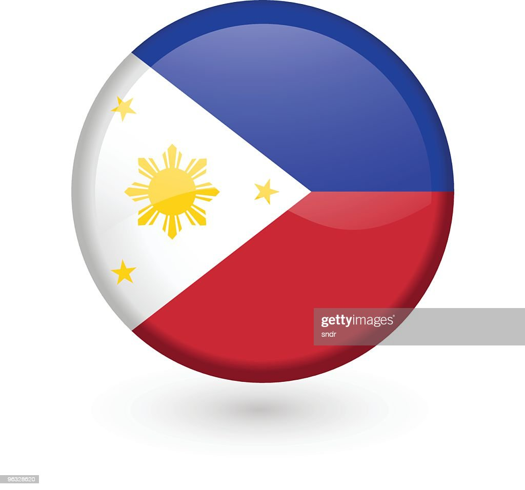 Philippines flag vector button