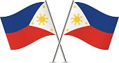 Philippines flags. Vector.