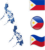 Philippines Map and Flag Collection