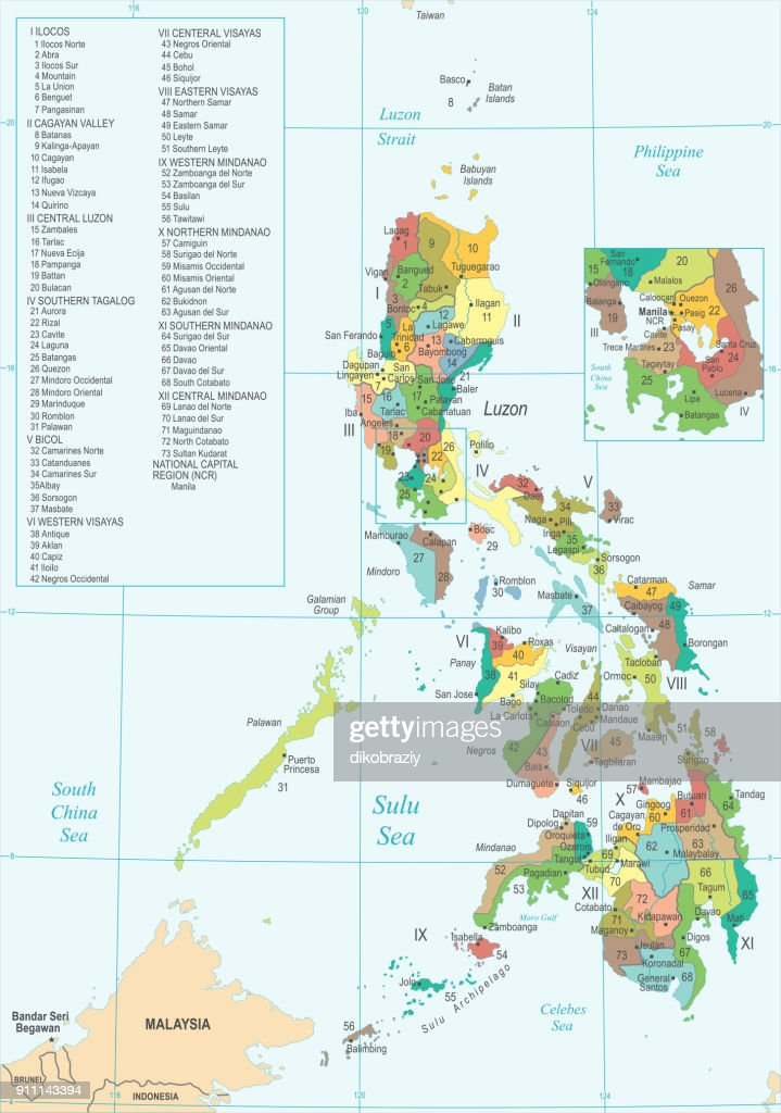 Philippines Map - Detailed Vector Illustration
