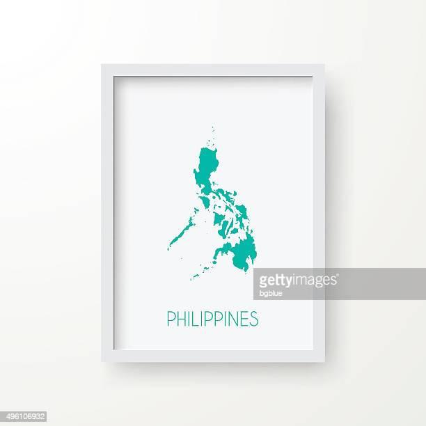 Philippinen Karte Frame auf weißem Hintergrund