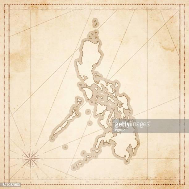 Philippinen Karte im Retro-Vintage-Stil - strukturierte Altpapier