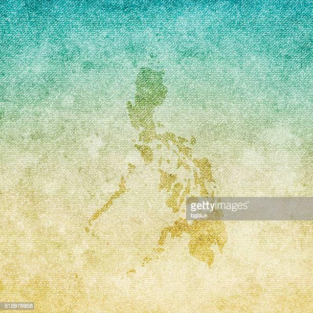 Philippinen Weltkarte auf grunge-Leinwand Hintergrund