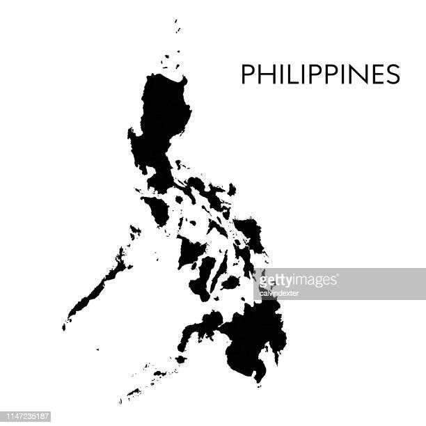 philippines map - philippines stock illustrations