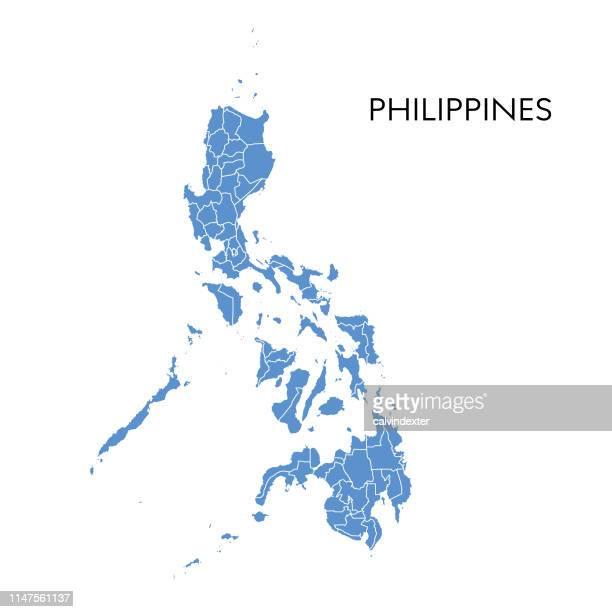 karte auf philippinen - philippinen stock-grafiken, -clipart, -cartoons und -symbole