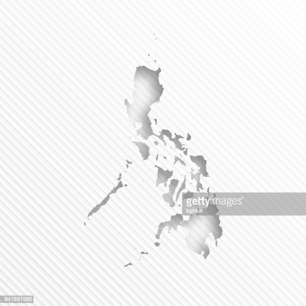 Philippinen Karte mit Papier Schneiden auf abstrakte weißen Hintergrund