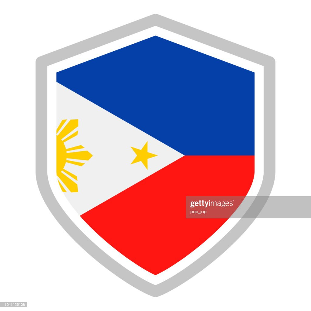 Philippines - Shield Flag Vector Flat Icon