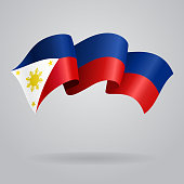 Philippines waving Flag. Vector illustration
